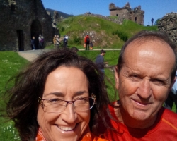 Dr Liz and Hubby-travelling-ruins